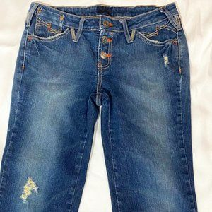 Distressed Jean Carpi's With Button Fly